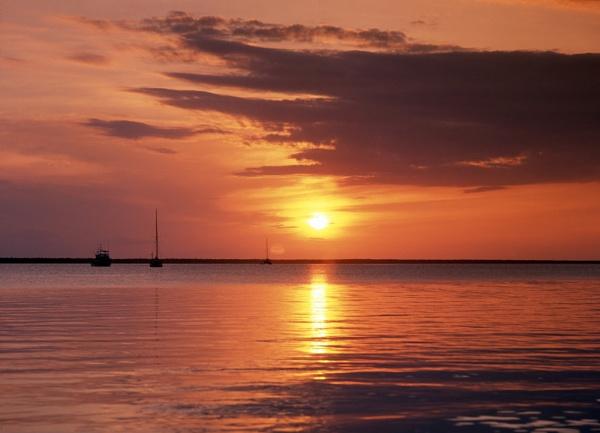 Sunset Abaco Sound Bahamas by jimhellier