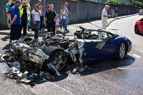 Lamborghini Gallardo wrecked in Fort William by chasing_tarmac