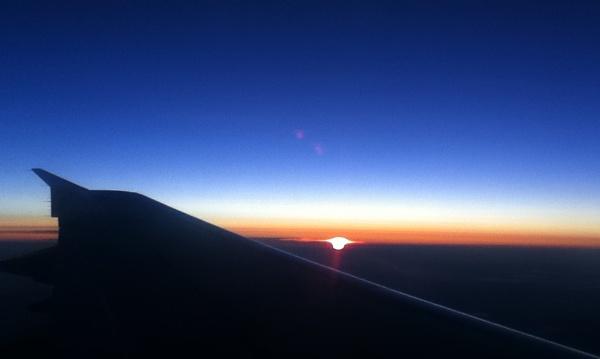 Sunrise at 35,000 feet by SkySkape