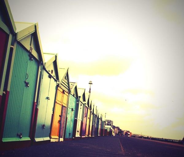Vintage Brighton Beach Huts by Radders3107