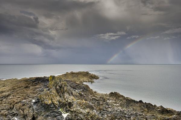 Rainbow, Pointe de Saint Cast by garyeason