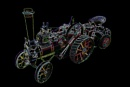 Neon Miniature Traction Engine