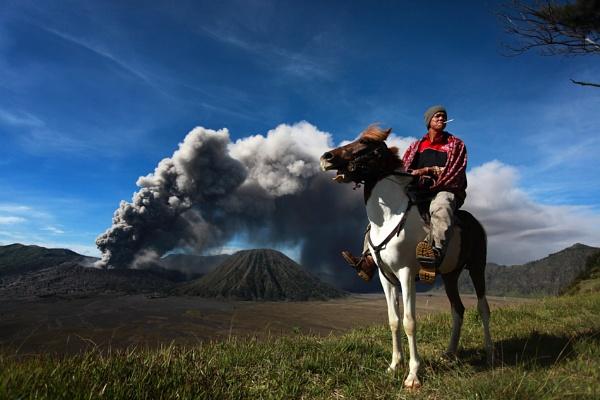 Mount Bromo\'s Rider by perakman