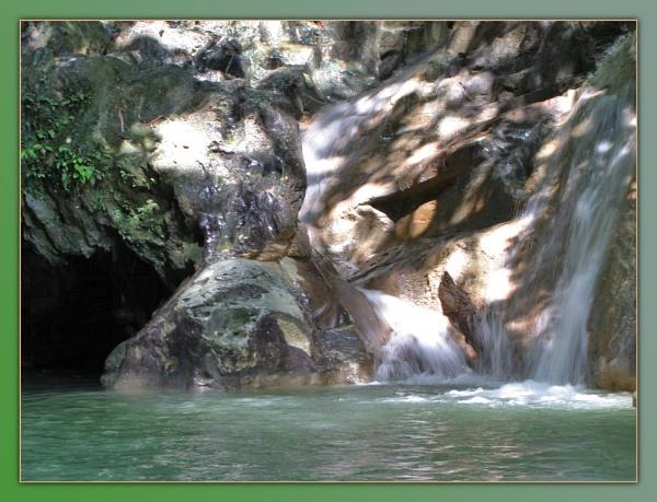 Dominican waterfall by JCowlan
