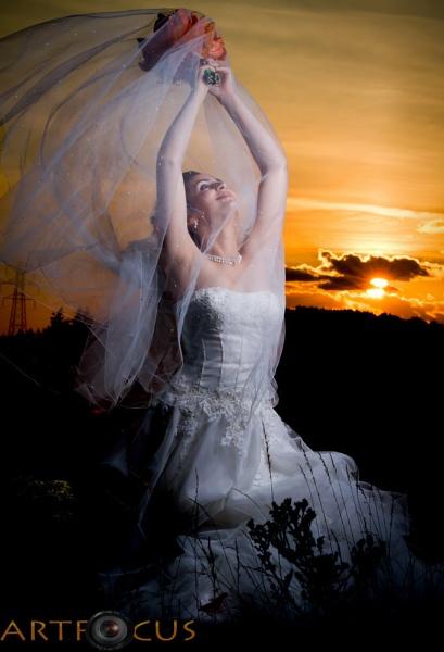 sun set bride by sacramento