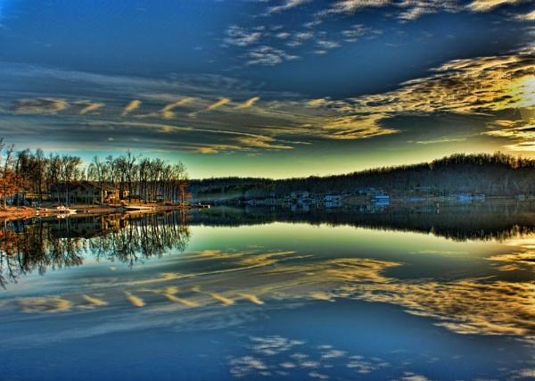 Reflective Sunset by RickFreid