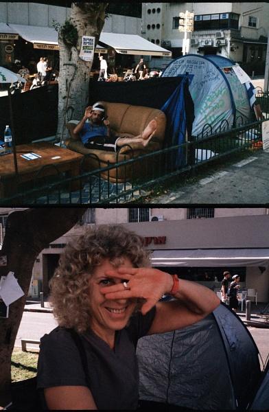Tents in Tel-Aviv by Royalrat