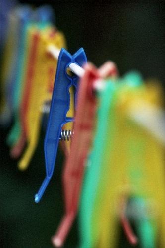 Blue - Like a Clothespeg. by mwoods