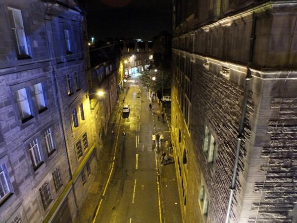 An Edinburgh Street after the Tattoo by sedonamoonshine