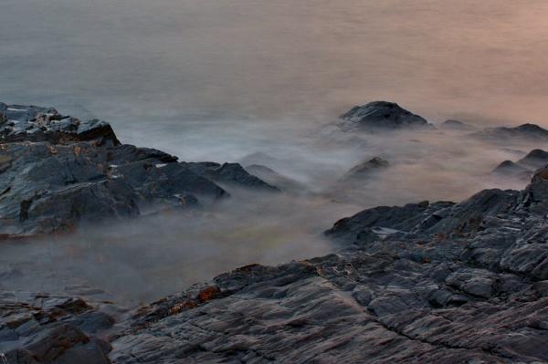 Treyarnon Bay at night by coliniex