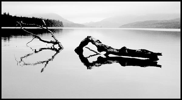 Early Morning on Loch Laggan, Scotland. by macroman
