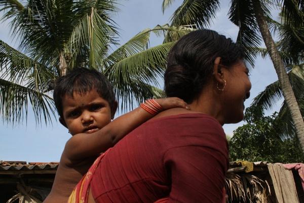With my mother by PradyothChakraborty