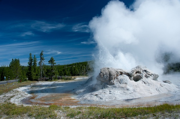 Castle Geyser, Yellowstone Park by janetm