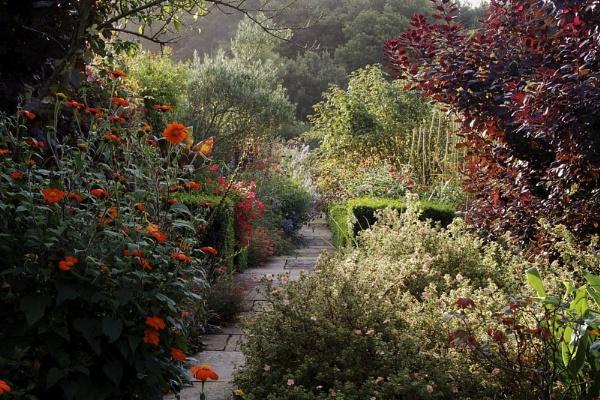 Late summer English garden by Glen-W