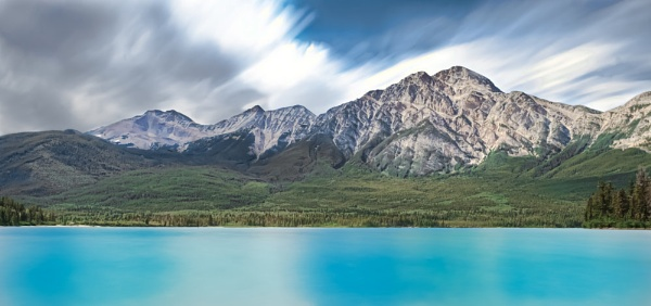 pyramid lake jasper canada by seeky007