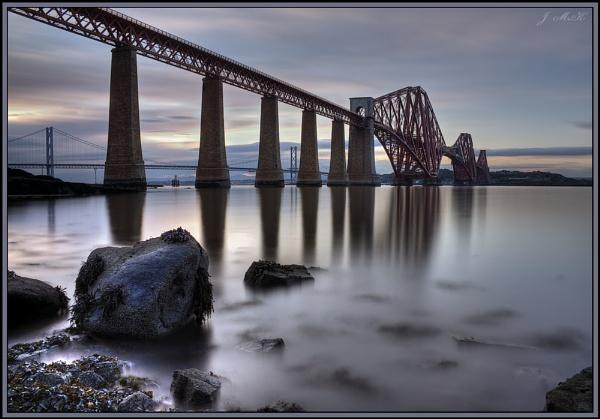 Forth rail bridge near Edinburgh, Scotland by Jim_McKinna