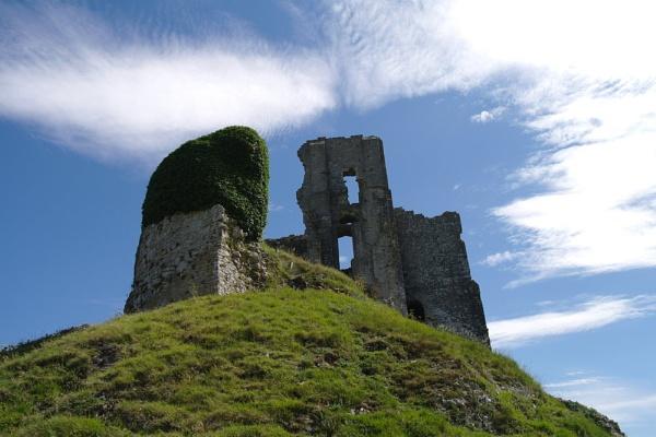 Corfe Castle by Gregoir