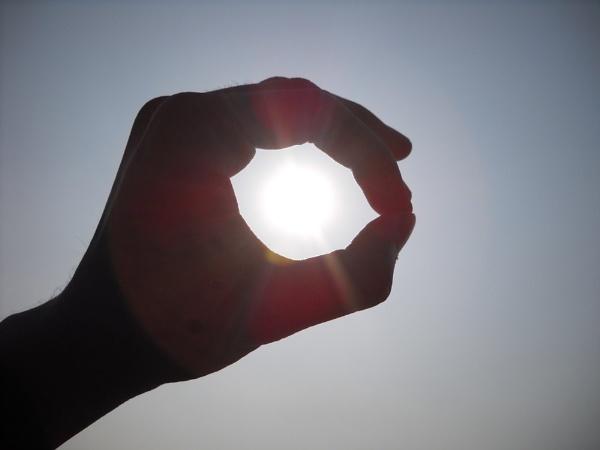 Burning ball in my hand. by BHUBAN