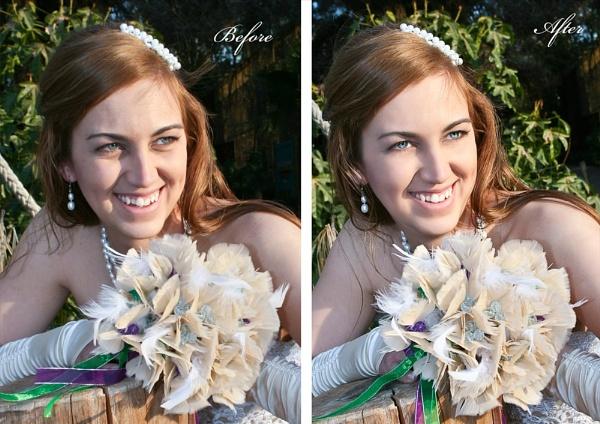 My First Digital Retoughed Bride by tari1005