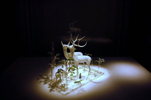Deer Family {glass) by billkouk
