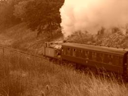 Thomas the tank engine in retro