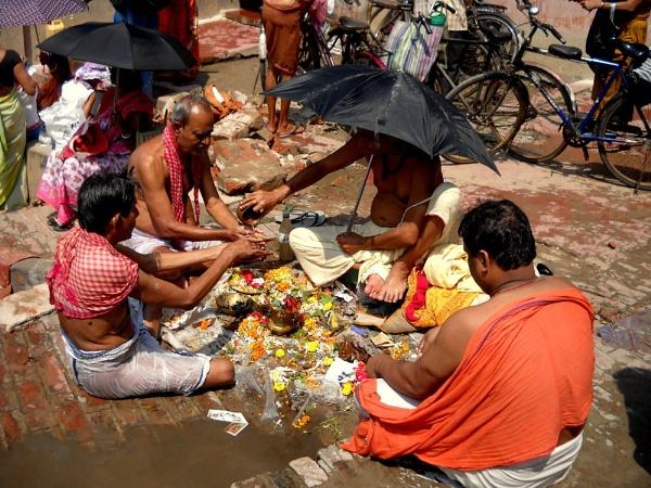 Tharpanam in the day of Mahalaya by BHUBAN
