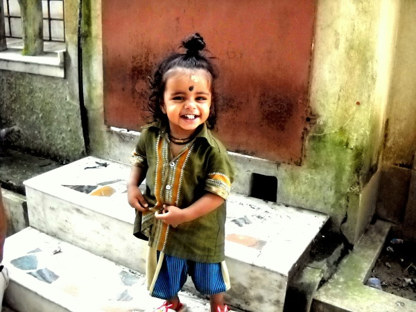 laughing baby. by BHUBAN