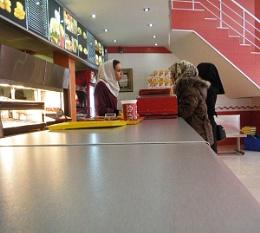 At the counter of Star Burger