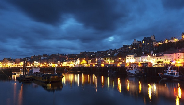 Whitby Harbour at dusk by Duncan_E