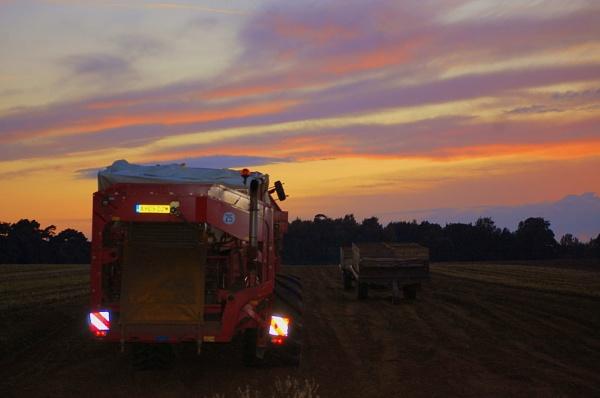 farm machines end of a good days work by cathsnap