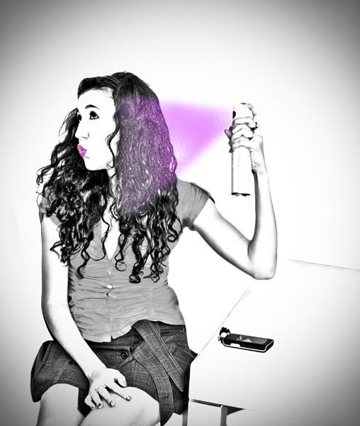 Purple Hair Day by Archangel72