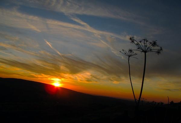 Sunset in Chinley by HelenaJ