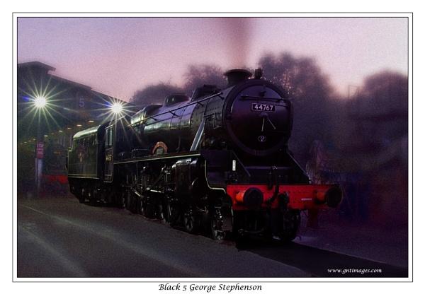 Black 5 George Stephenson by GlynnisFrith