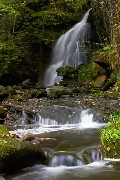 Waterfall at Cwm Gwrelych by skye1