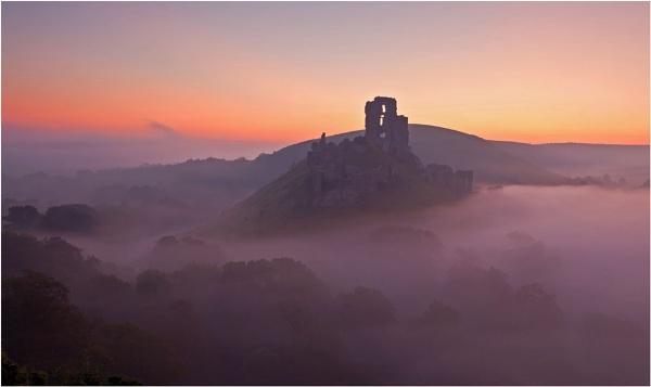 Corfe Castle again by MrBlueSky