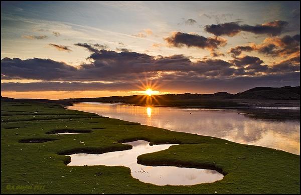 ogmore river sunset by zapar40