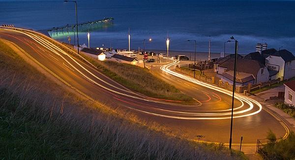 Light Trails on Saltburn Bank by Rich3344
