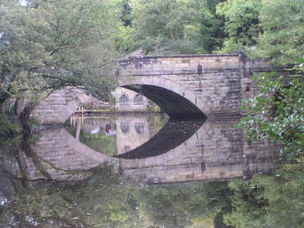 New Bridge, Near Froggatt over the River Derwent by spireite