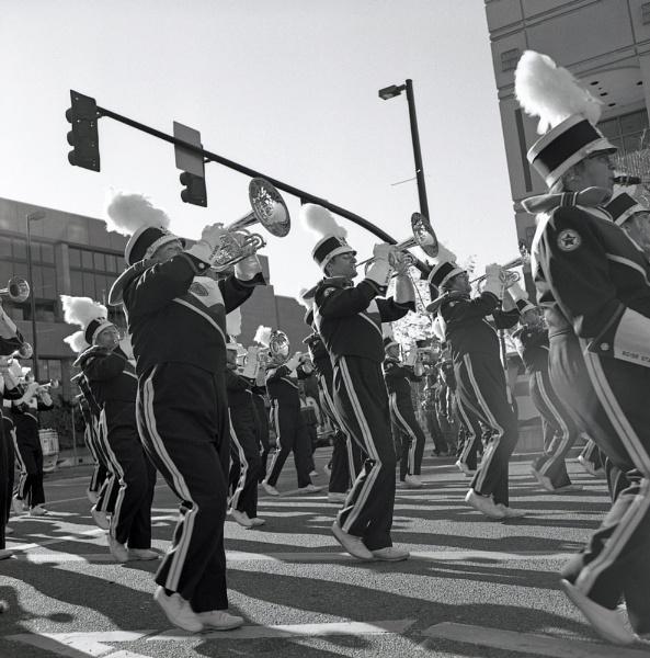 MARCHING BAND ON MAIN STREET by jmolligo