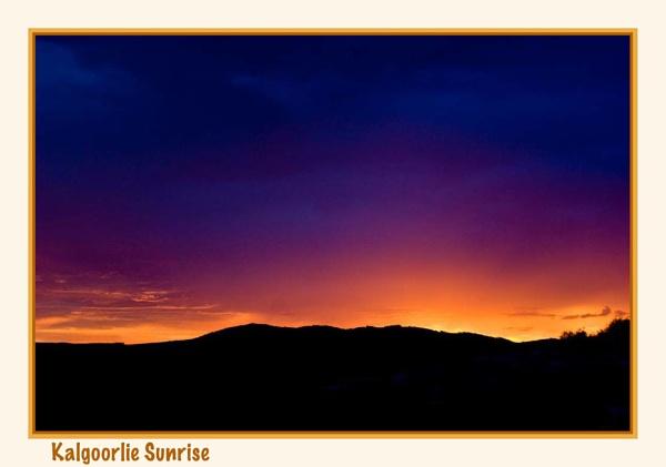 Kalgoorlie Sunrise by Joeblowfromoz