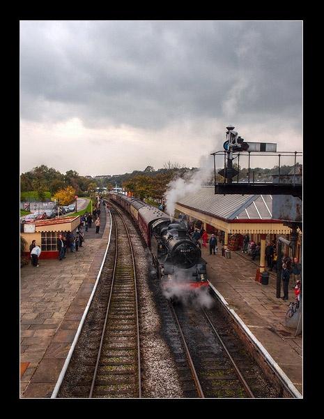 Train At Ramsbottom Station by Rob66