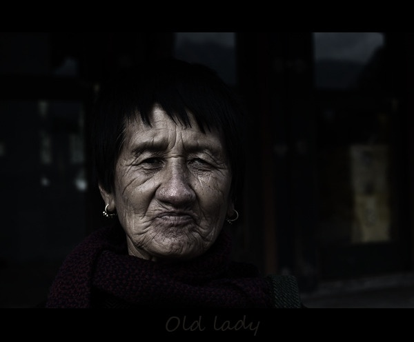 OLD LADY by clicknimagine