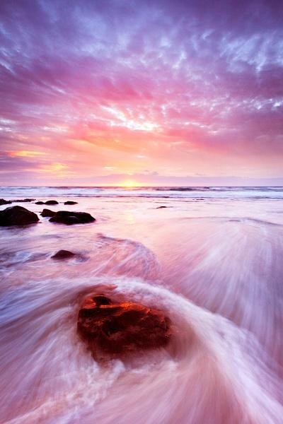 sunset 2 fanore beach Co Clare, Ireland. by irishdomo1