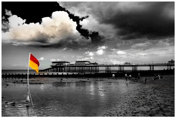 Cromer Pier ... lifeguard on duty. by marathonman2