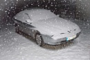 Alfa 166. In the snow