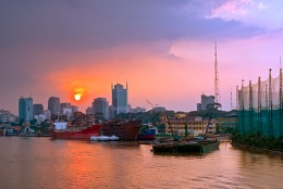 Afternoon Sunset in Bach Dang Quay