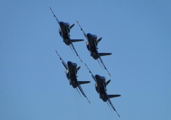 Blue Angels Diamond Pass by ah64d