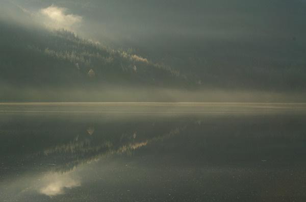 Loch Voil mist by AllyN
