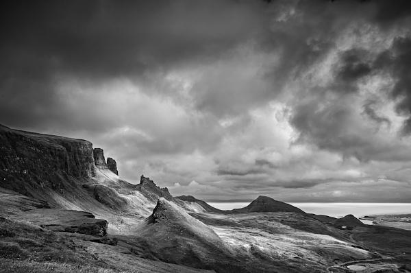 B&W Quiraing - Isle of Skye by stormcrowuk