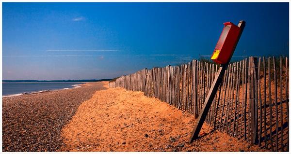 Alone on Walberswick Beach by marathonman2